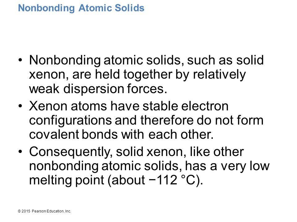 Nonbonding Atomic Solids