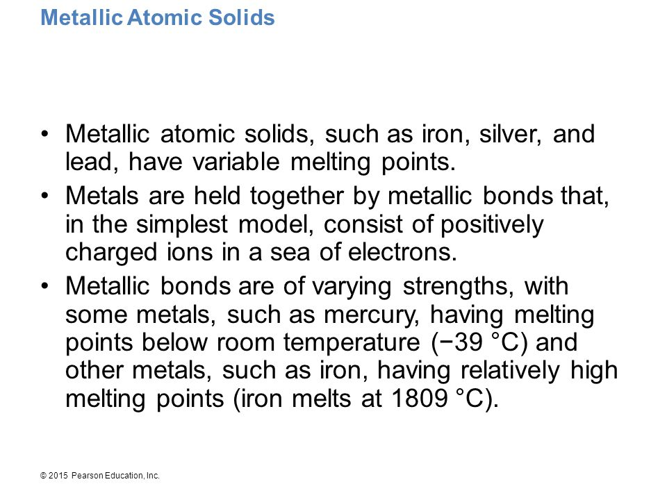 Metallic Atomic Solids