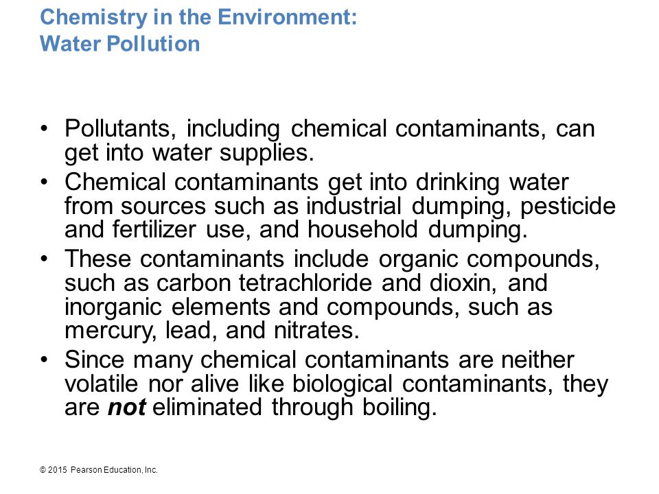 Chemistry in the Environment: Water Pollution