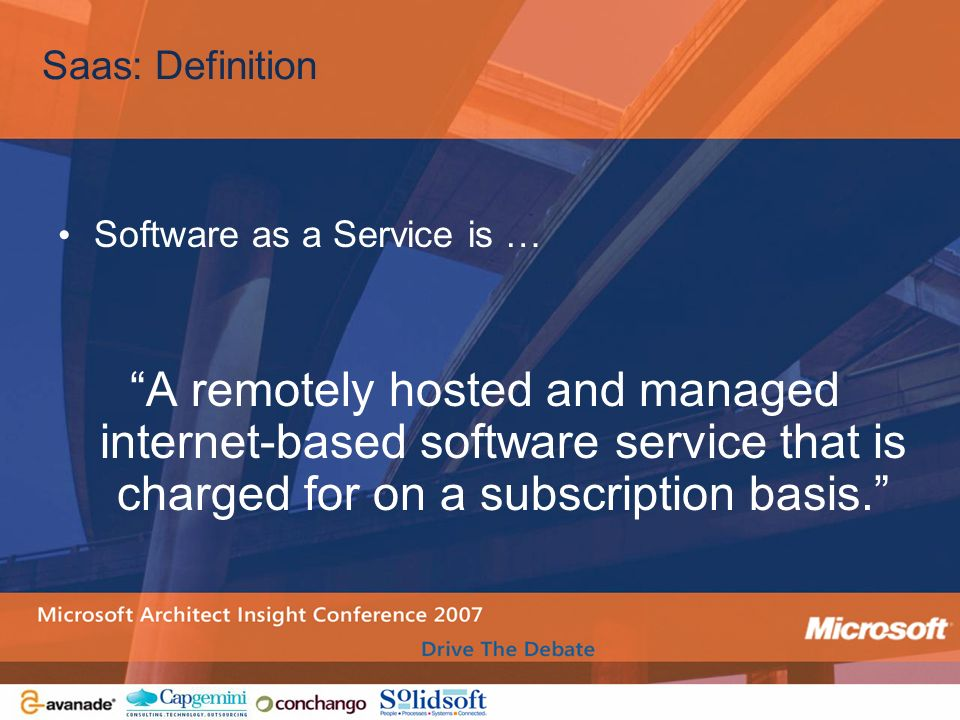 Saas: Definition Software as a Service is …