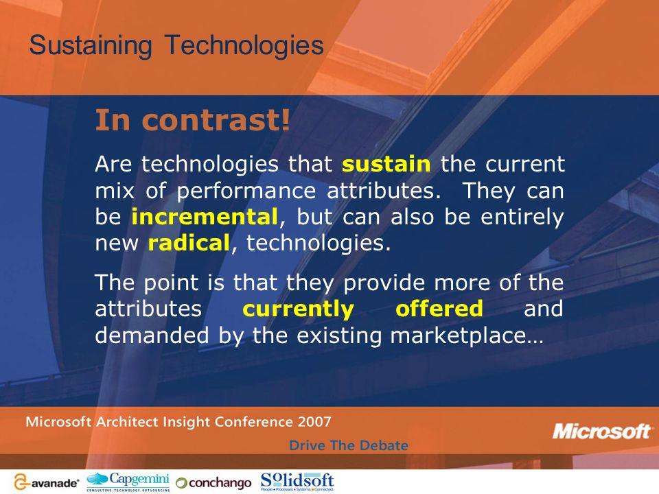 Sustaining Technologies