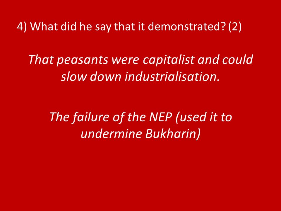 4) What did he say that it demonstrated (2)