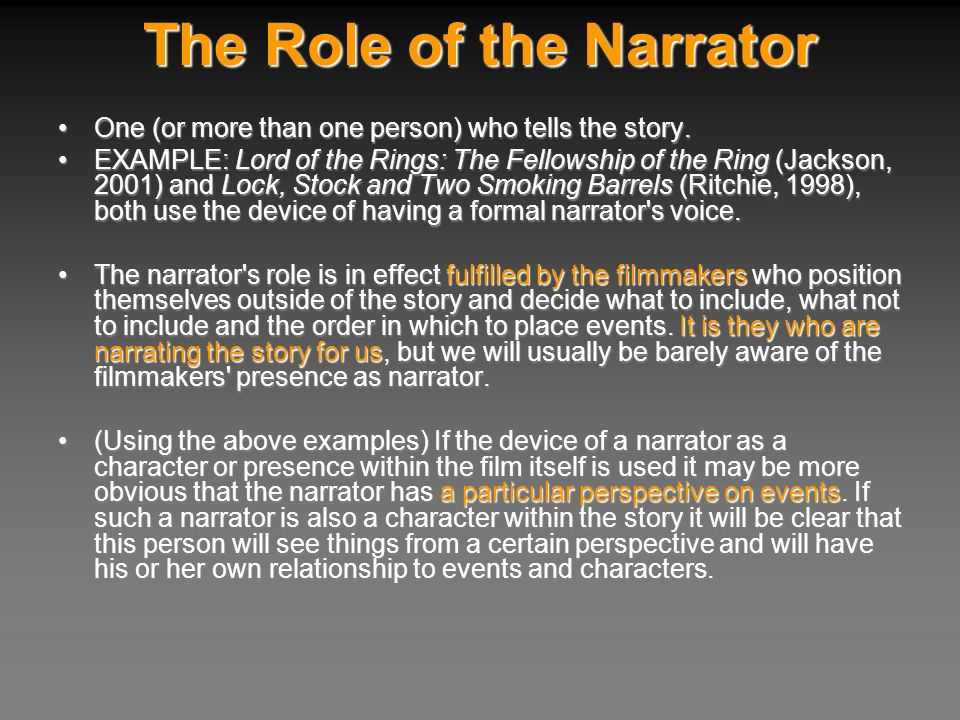 The Role of the Narrator