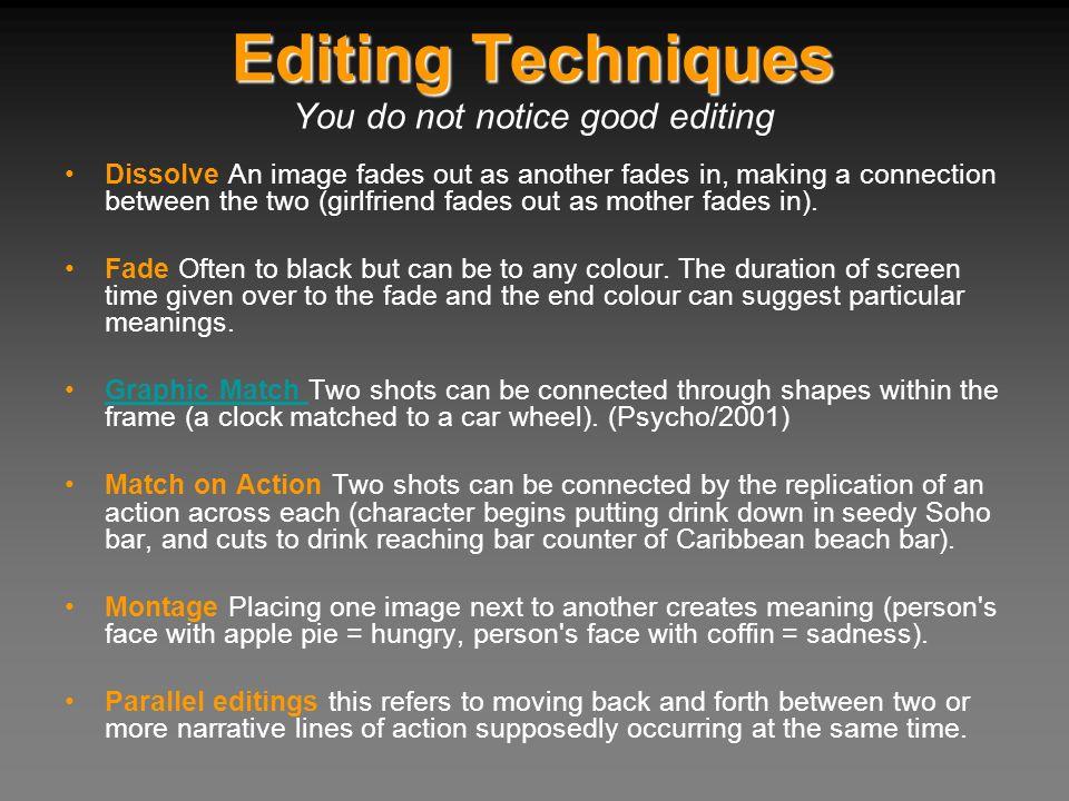 You do not notice good editing
