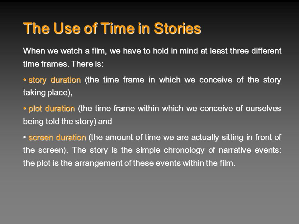 The Use of Time in Stories