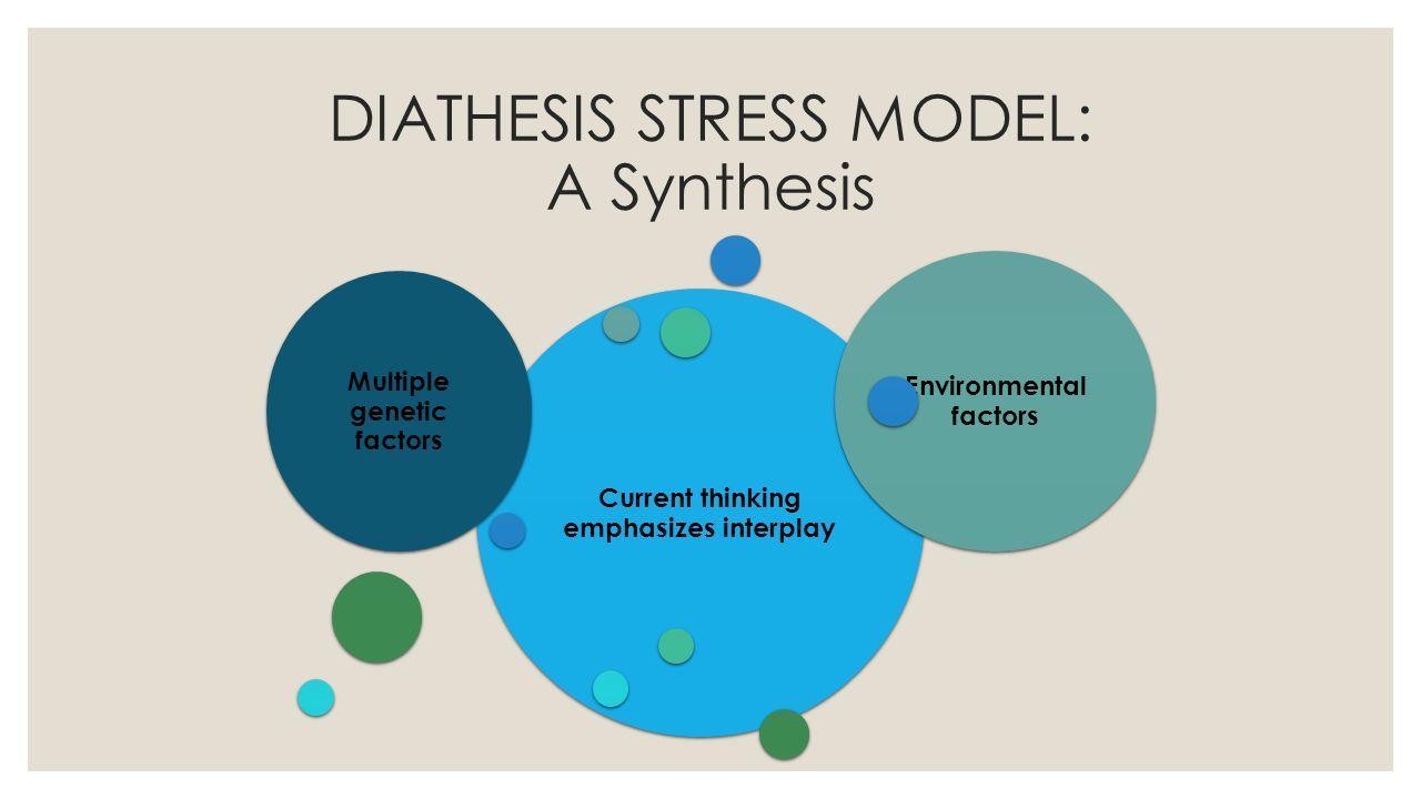 DIATHESIS STRESS MODEL: A Synthesis