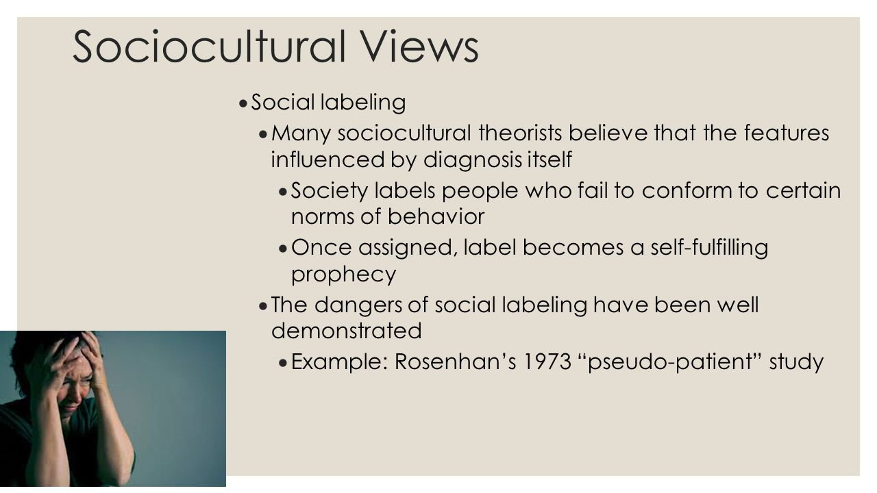 Sociocultural Views Social labeling