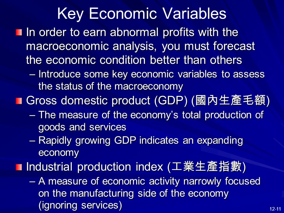 Key Economic Variables