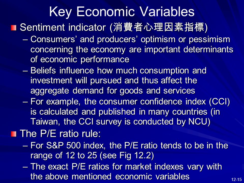 important variables in macroeconomics Macroeconomic factors and the management environment by: leo sun as a new business manager, the first thing you must be in tune with is the state of microeconomics and macroeconomics.