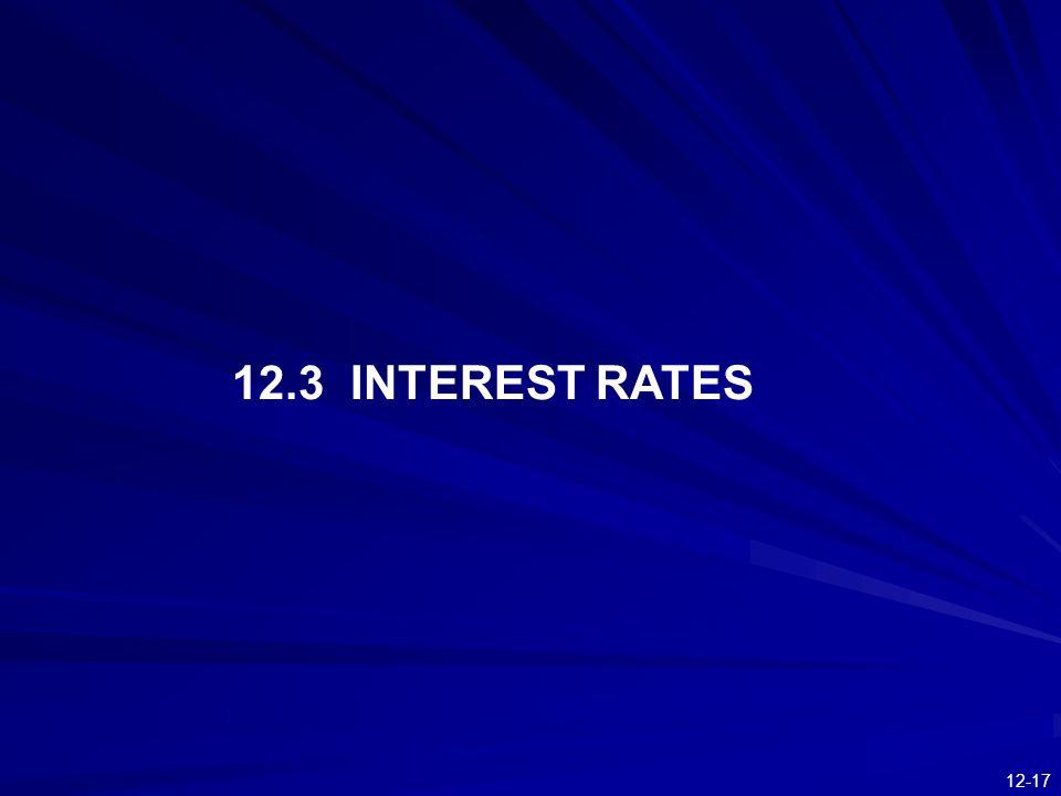 12.3 INTEREST RATES