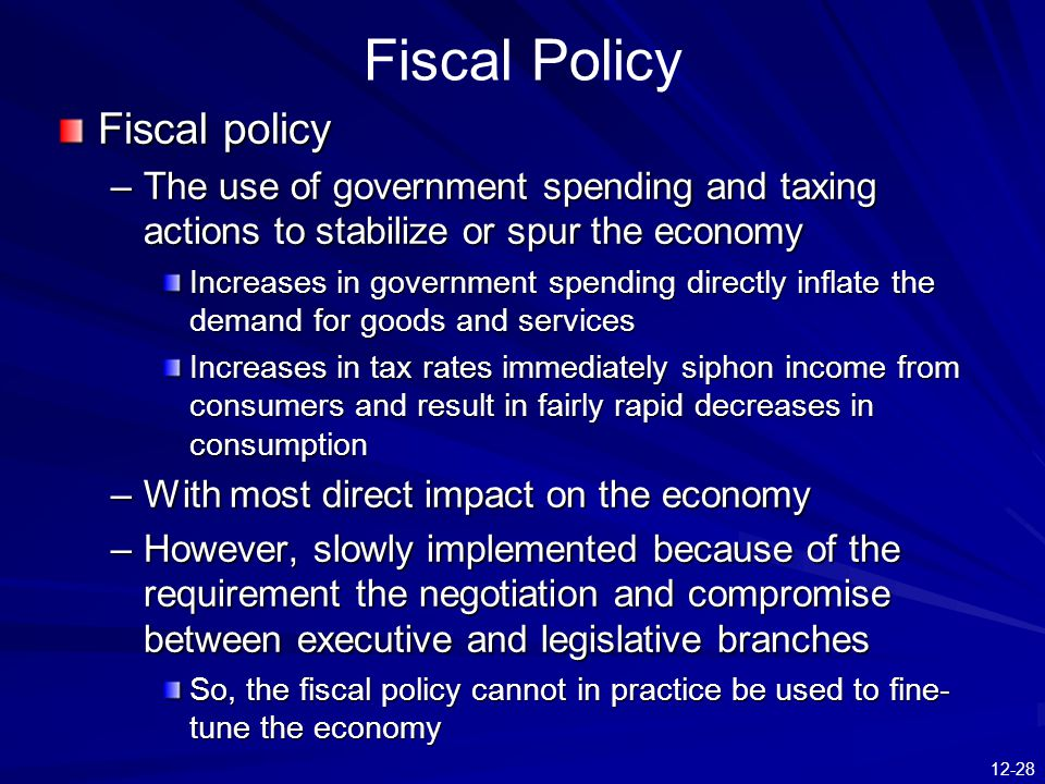 Fiscal Policy Fiscal policy