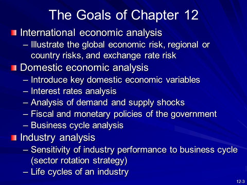 The Goals of Chapter 12 International economic analysis