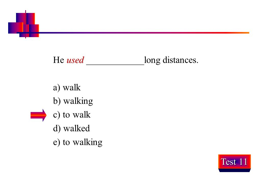 He used ____________long distances.