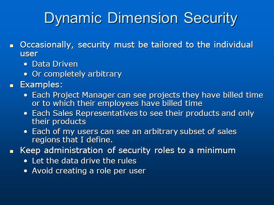 Dynamic Dimension Security
