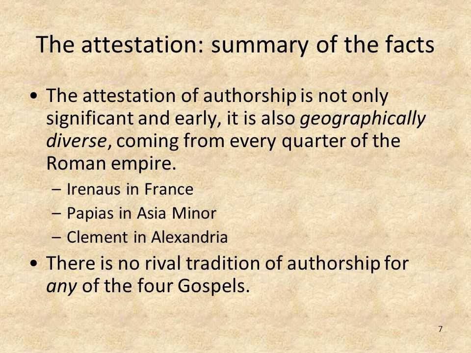 The attestation: summary of the facts