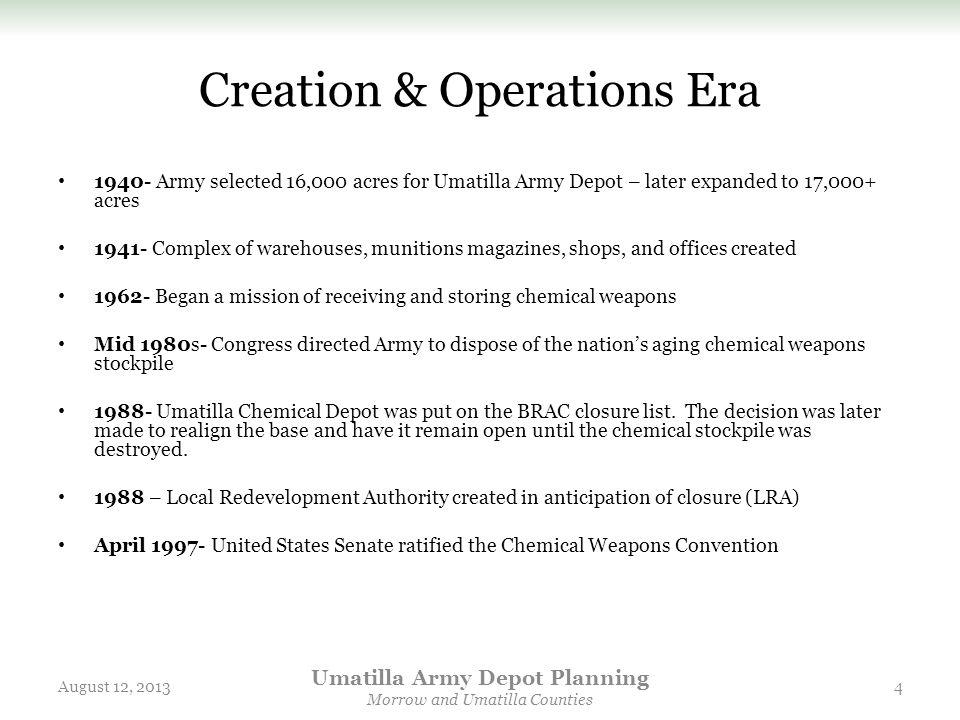 Creation & Operations Era