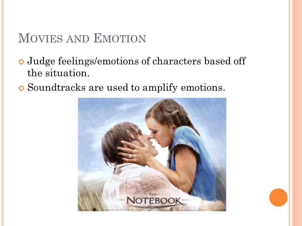 Movies and Emotion Judge feelings/emotions of characters based off the situation.
