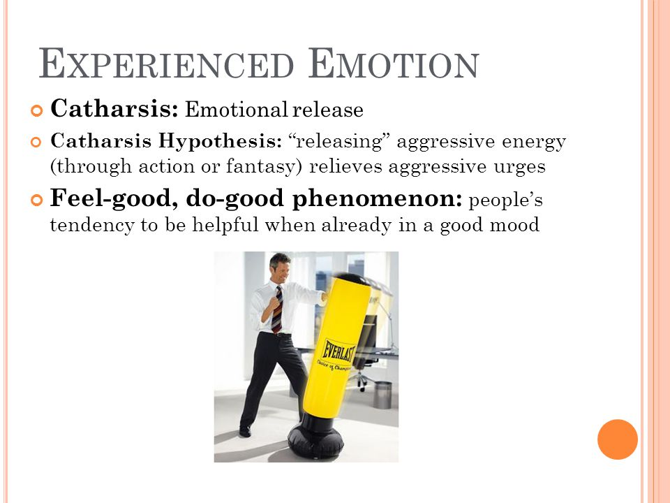 Experienced Emotion Catharsis: Emotional release