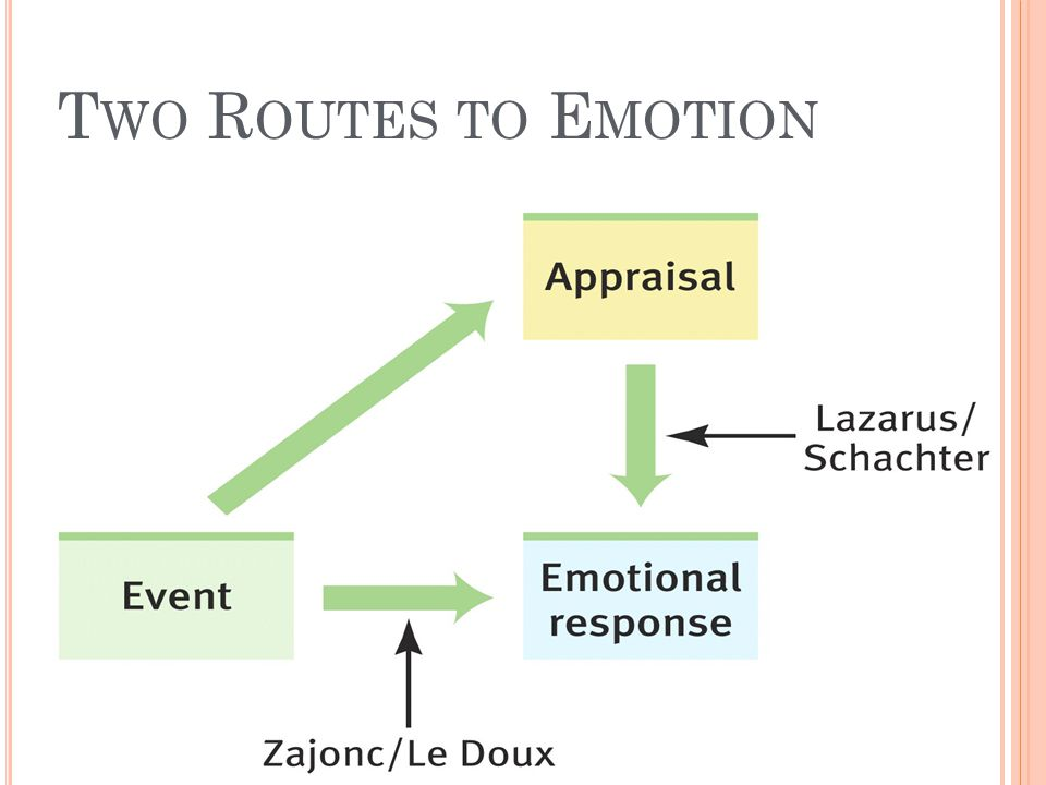 Two Routes to Emotion