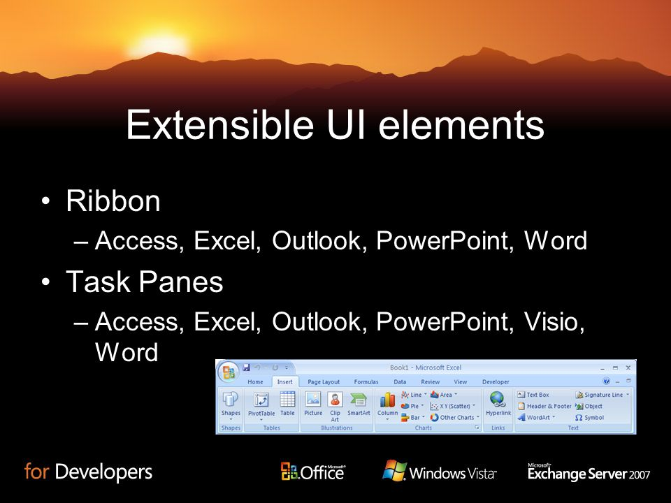 Extensible UI elements