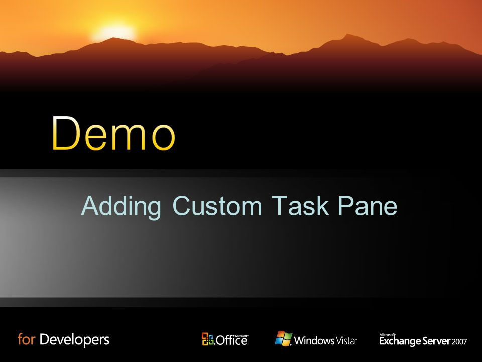 Adding Custom Task Pane