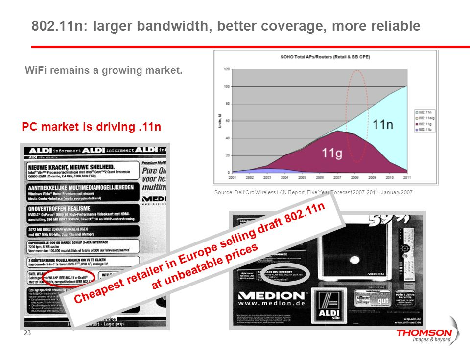 802.11n: larger bandwidth, better coverage, more reliable