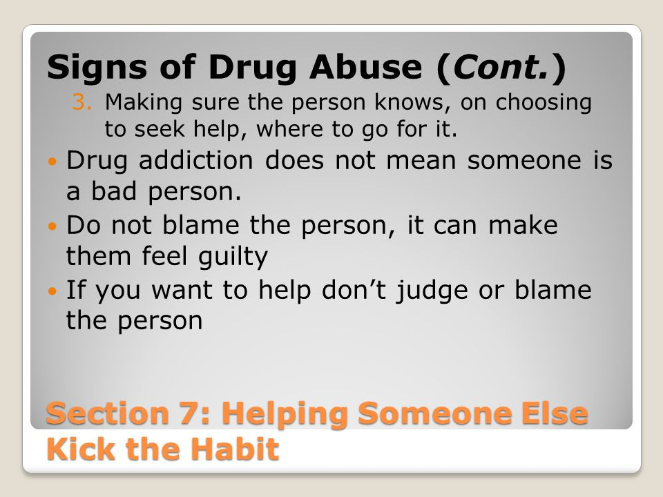 Section 7: Helping Someone Else Kick the Habit