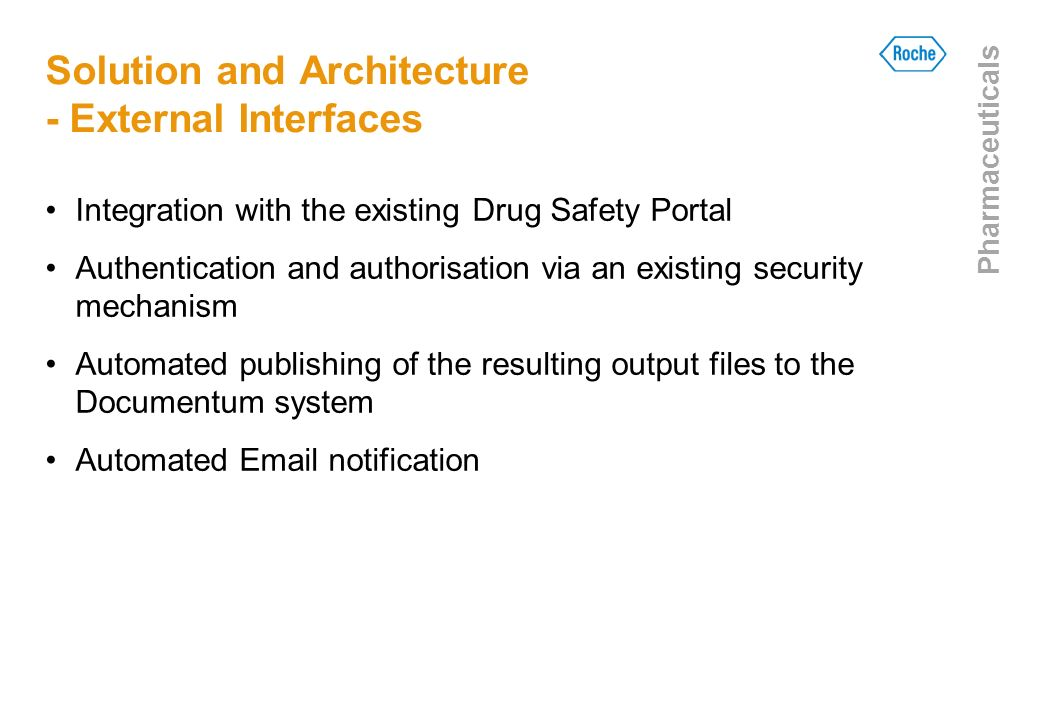 Solution and Architecture - External Interfaces