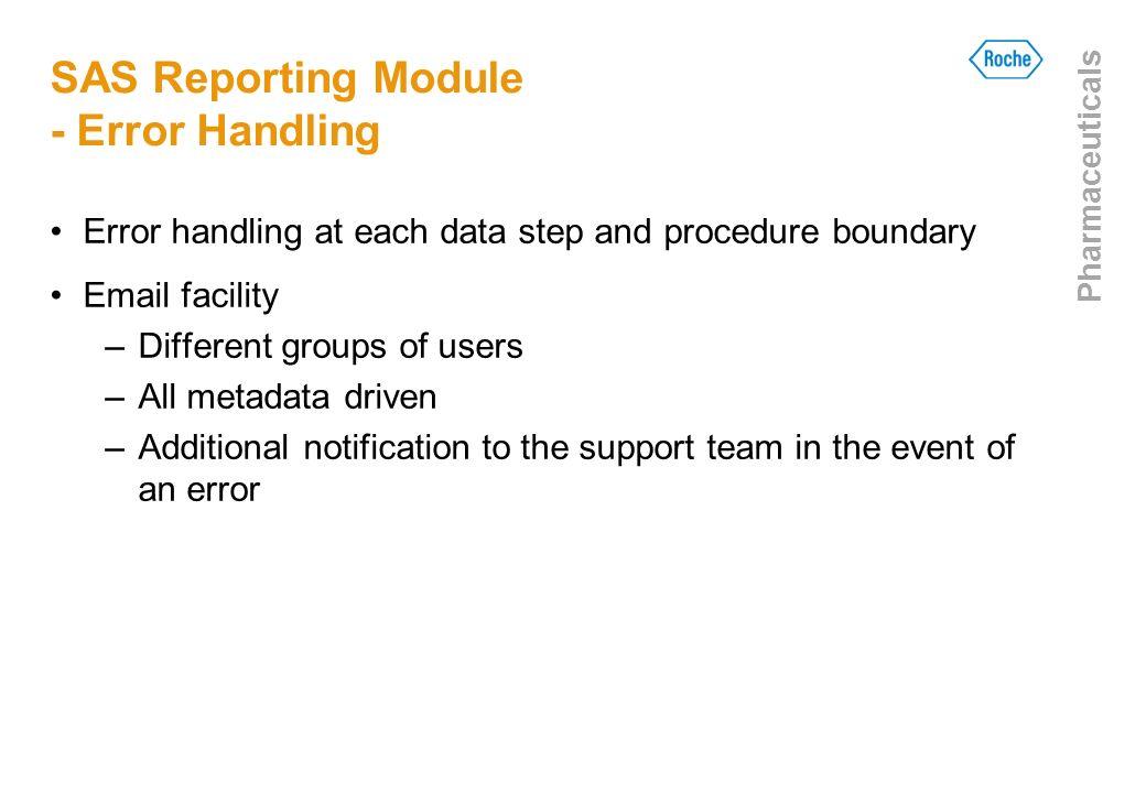 SAS Reporting Module - Error Handling