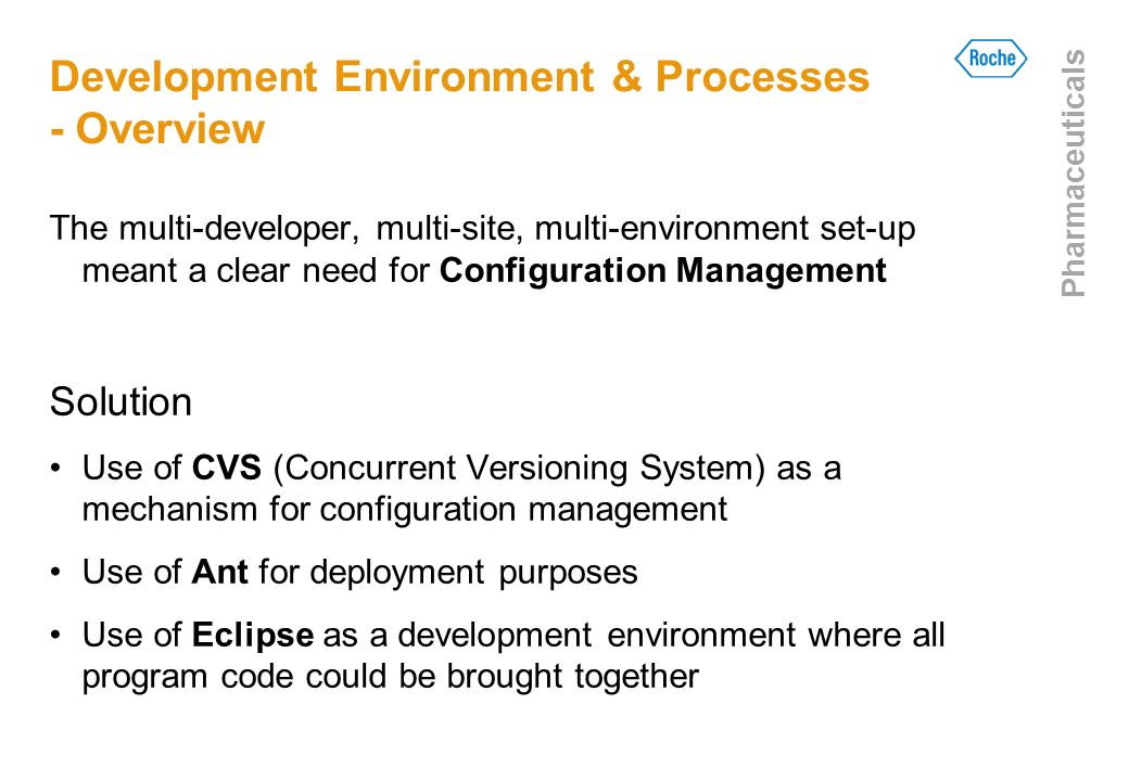 Development Environment & Processes - Overview