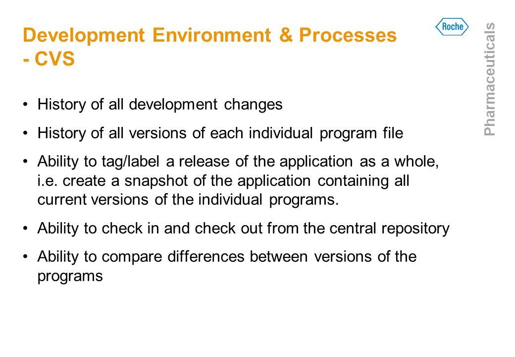Development Environment & Processes - CVS