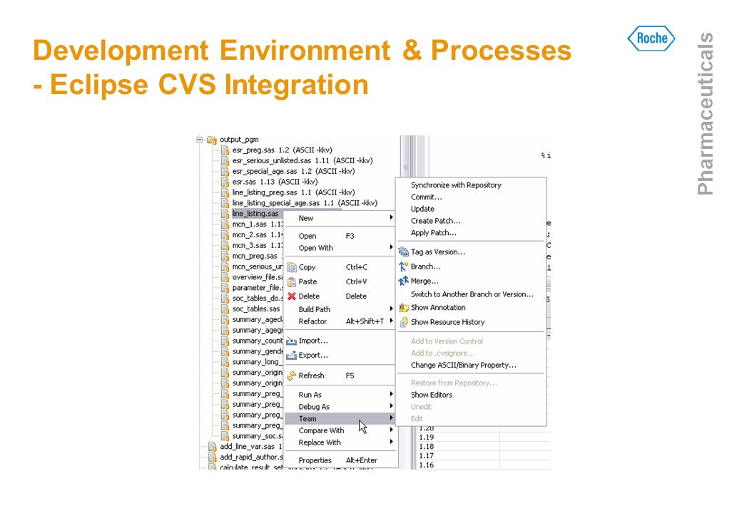 Development Environment & Processes - Eclipse CVS Integration