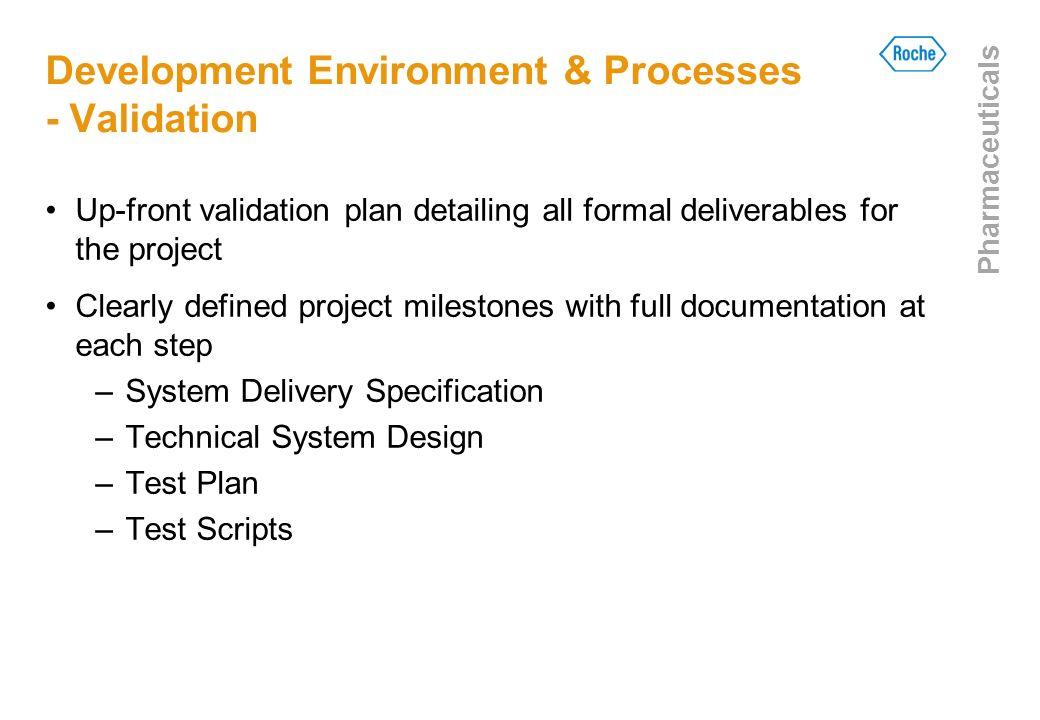 Development Environment & Processes - Validation