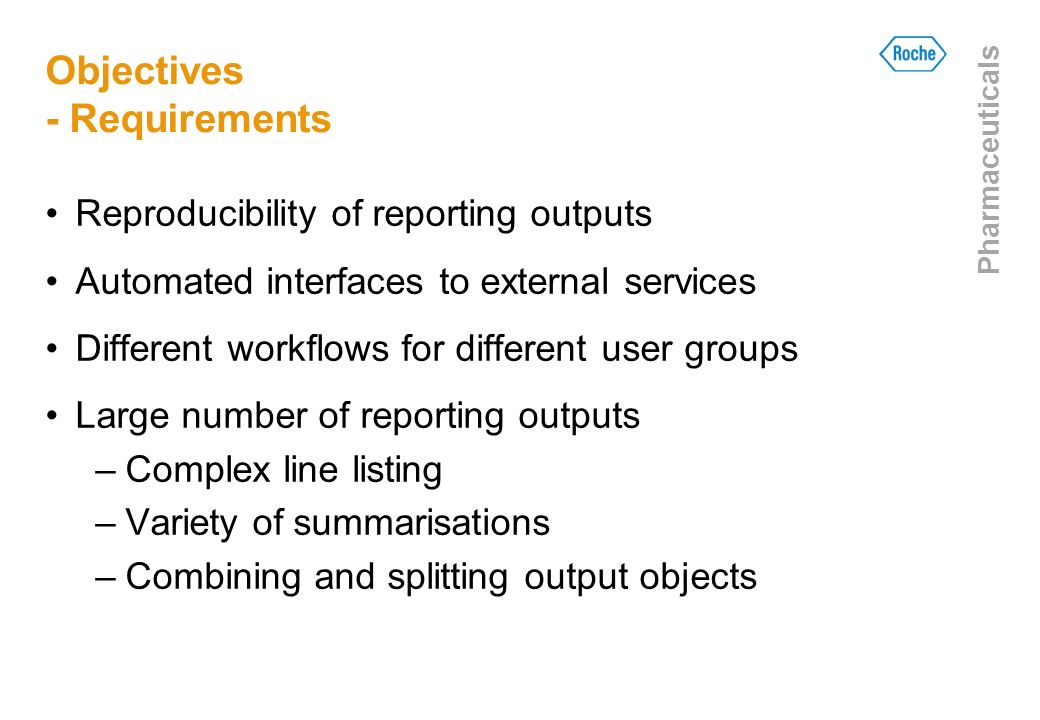 Objectives - Requirements