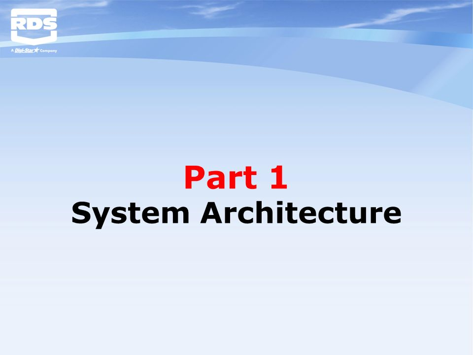 Part 1 System Architecture
