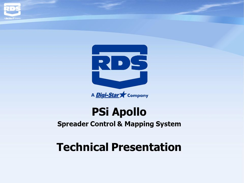 PSi Apollo Spreader Control & Mapping System Technical Presentation
