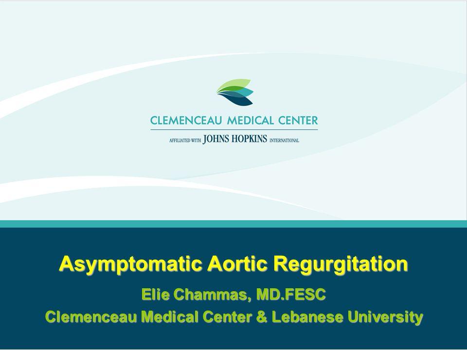 Asymptomatic Aortic Regurgitation