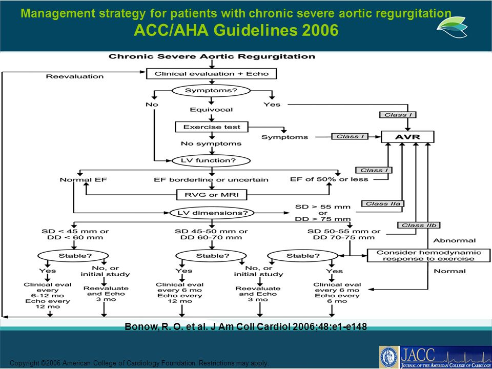Bonow, R. O. et al. J Am Coll Cardiol 2006;48:e1-e148