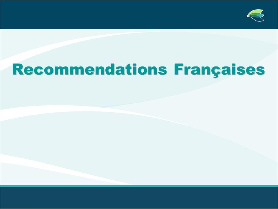 Recommendations Françaises