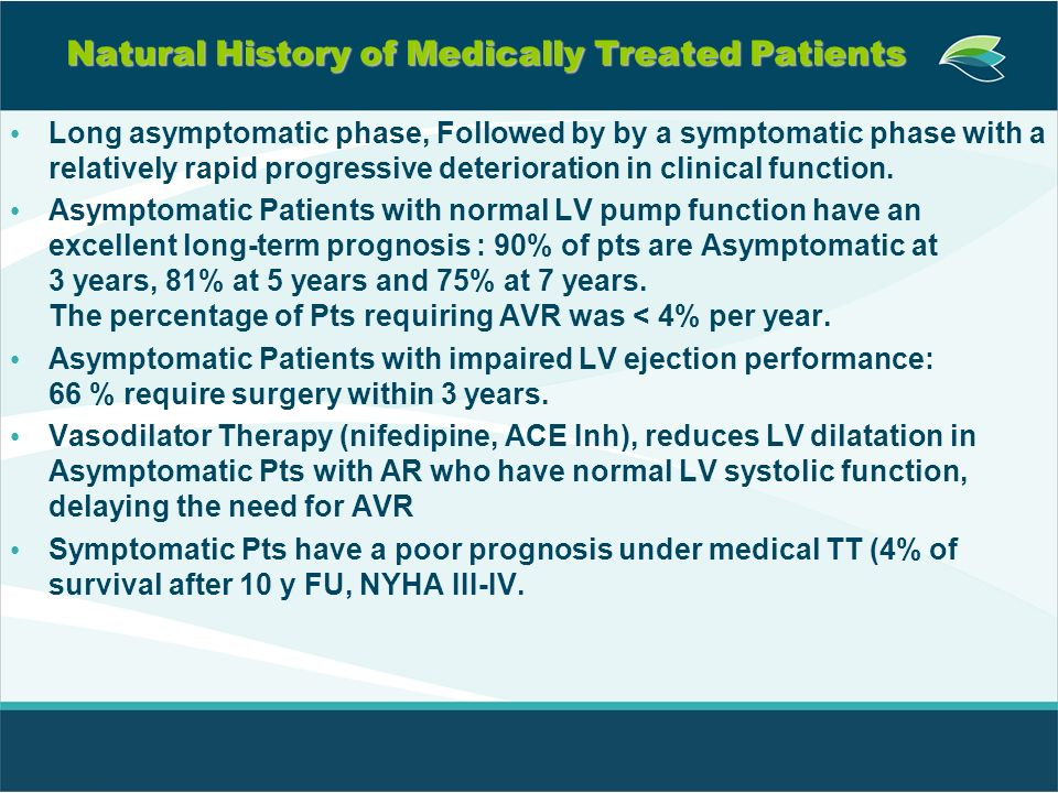 Natural History of Medically Treated Patients