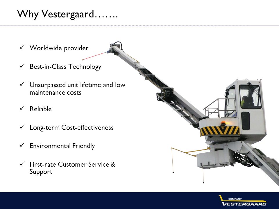Why Vestergaard……. Worldwide provider Best-in-Class Technology