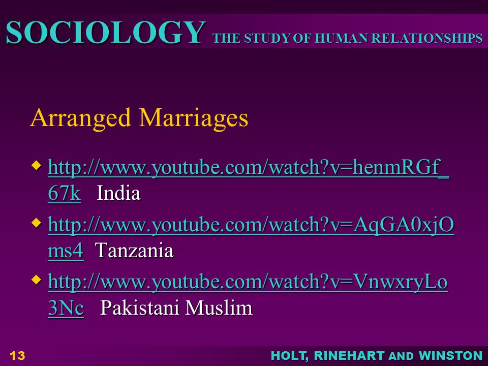 Arranged Marriages http://www.youtube.com/watch v=henmRGf_67k India