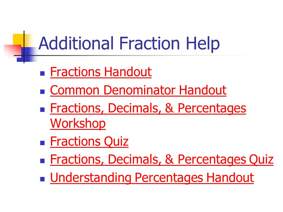 Additional Fraction Help