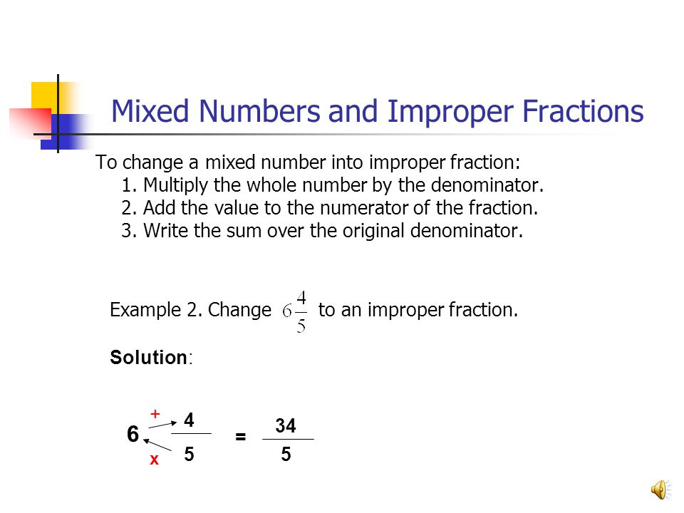 MIXED FRACTIONS INSTRUCTIONS