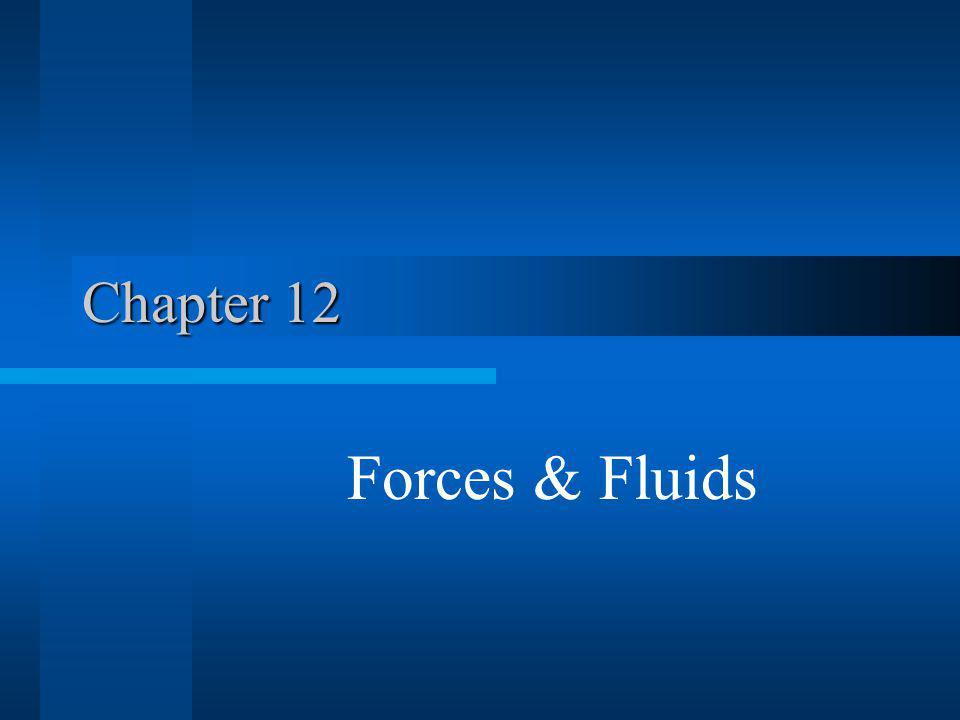 Chapter 12 Forces & Fluids