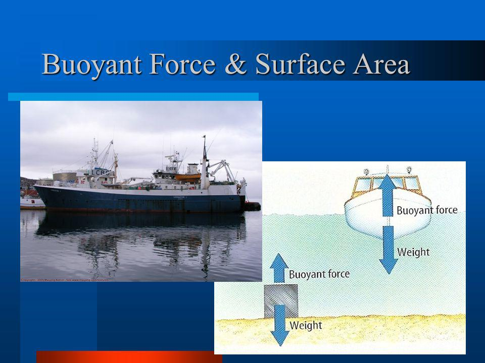 Buoyant Force & Surface Area