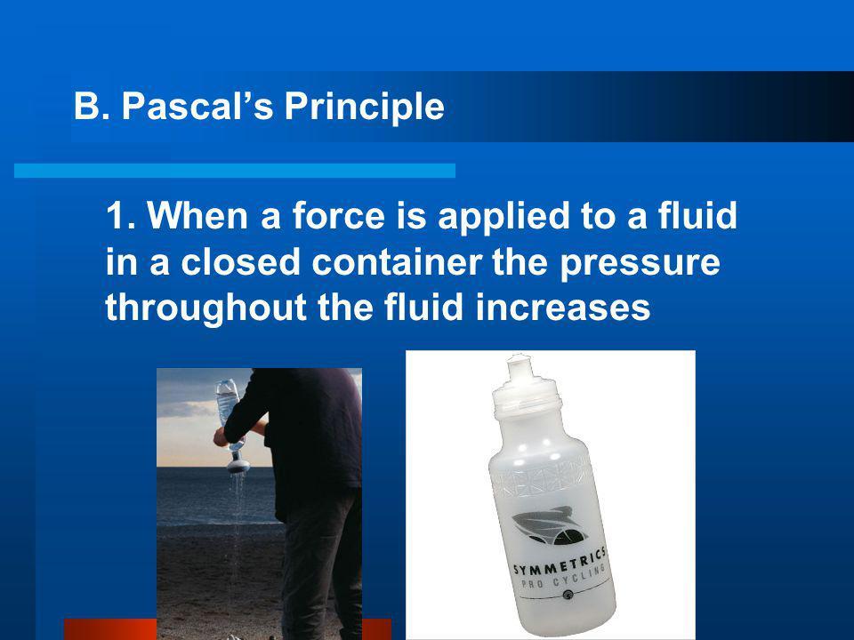 B. Pascal's Principle 1.