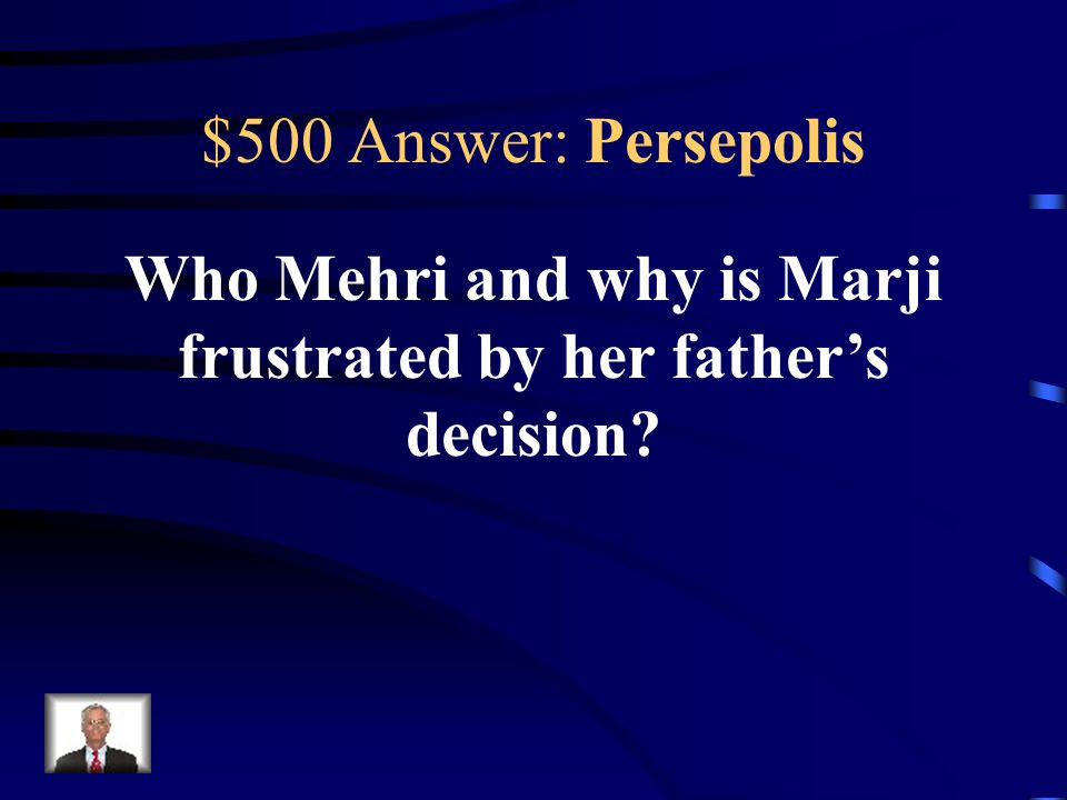 Who Mehri and why is Marji frustrated by her father's decision