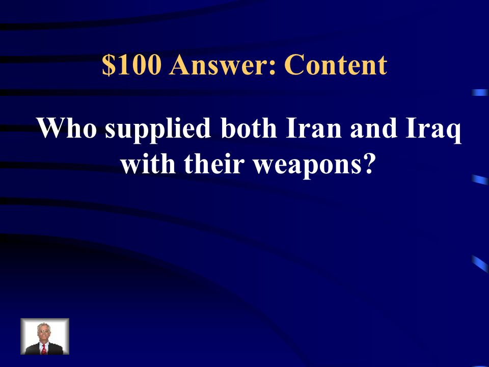 Who supplied both Iran and Iraq with their weapons