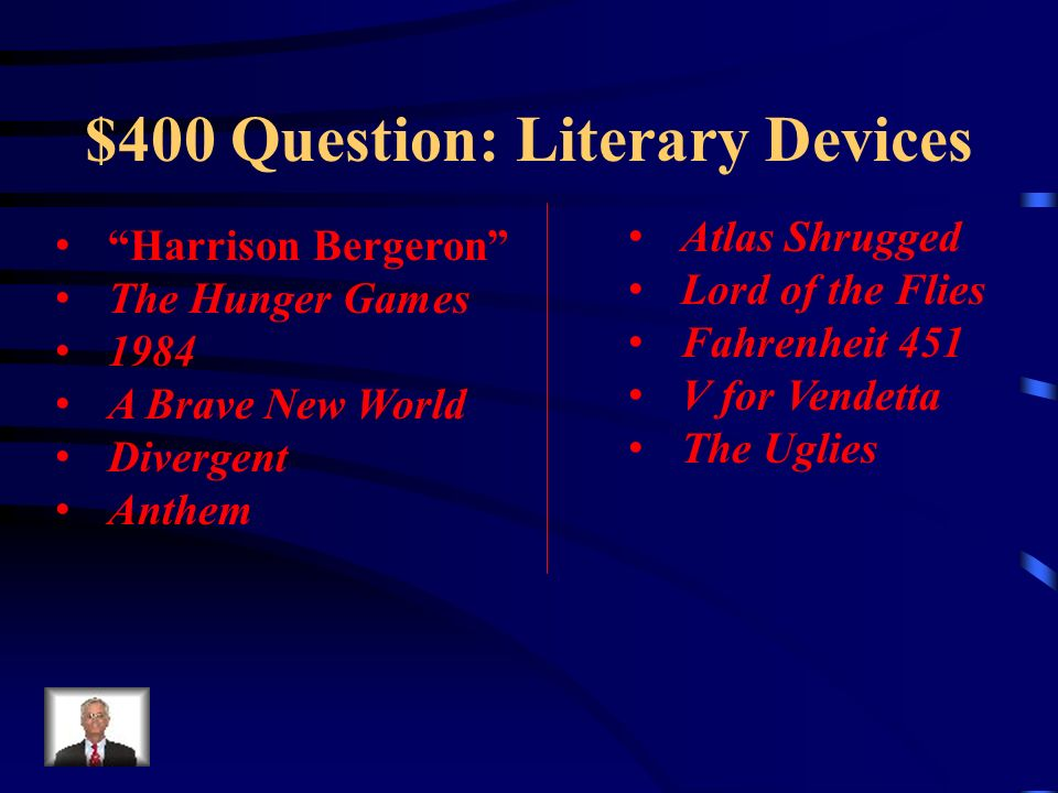 $400 Question: Literary Devices